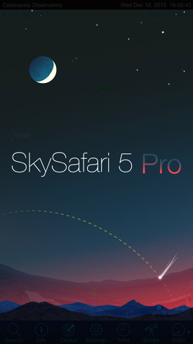 Cassiopeia Observatory - Review - SkySafari 5 Pro for iOS