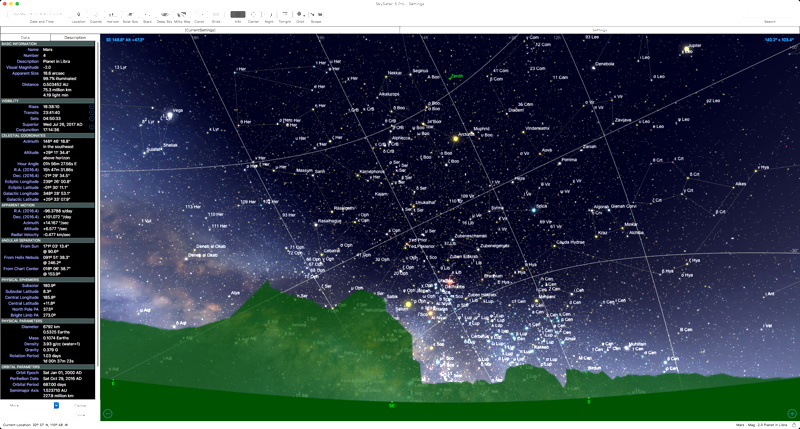 Cassiopeia Observatory - Review - SkySafari 5 Pro for Mac OS X