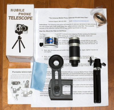 Cassiopeia Observatory - Review - Smartphone 8X Telephoto Kit with