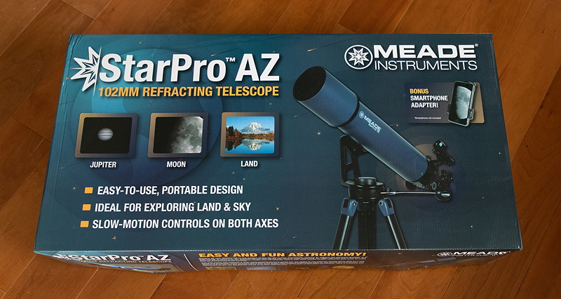 Cassiopeia Observatory - Review - Meade StarPro™ AZ 102mm